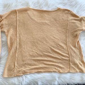 Eileen Fisher Sweaters - Eileen Fisher Orange Linen Drop Shoulder Sweater